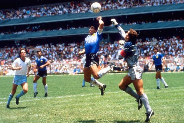 Image result for hand of god maradona