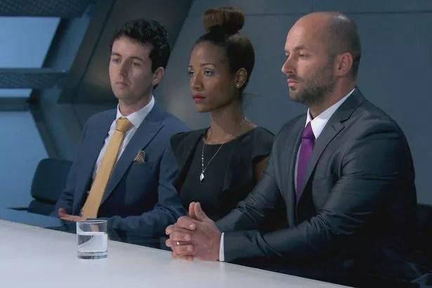 Team Connexus memners Dan Callaghan, April Jackson, Brett Butler-Smythe on The Apprentice