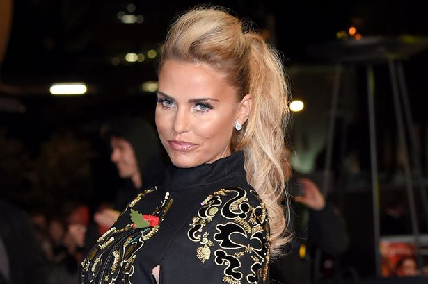 Katie Price attends The Hunger Games: Mockingjay Part 2 - UK Premiere at Odeon Leicester Square on November 5, 2015 in London, England