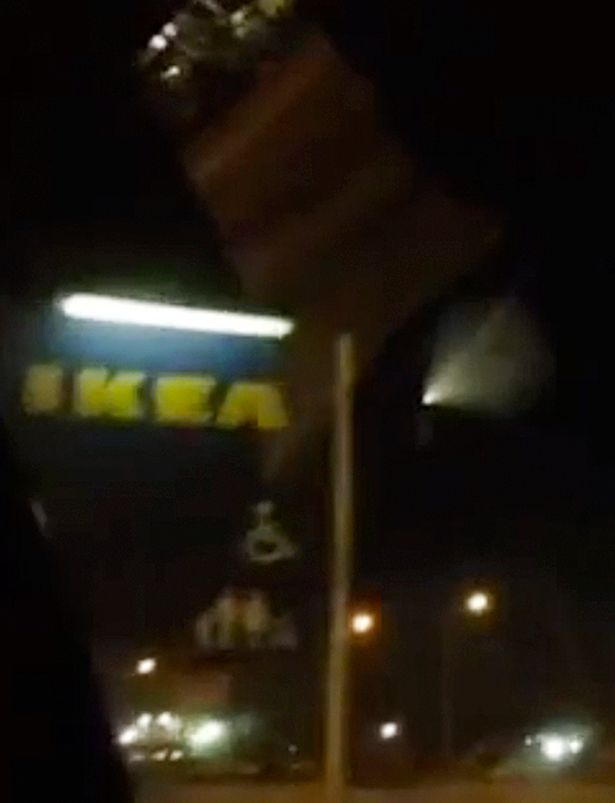 UFO spotted buzzing above IKEA