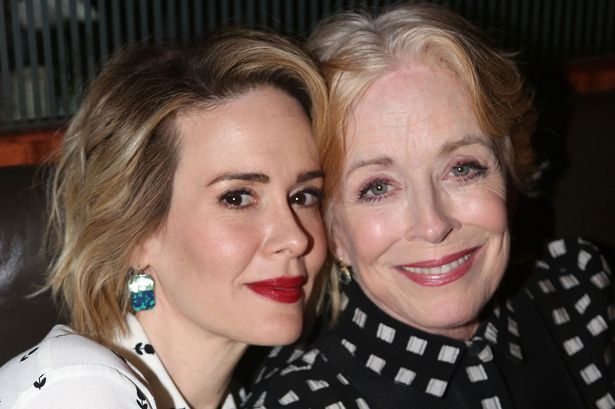 """Sarah Paulson and Holland Taylor pose at the Opening Night After-party for """"Ripcord"""""""