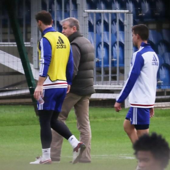Roman Abramovich at Cobham Training ground