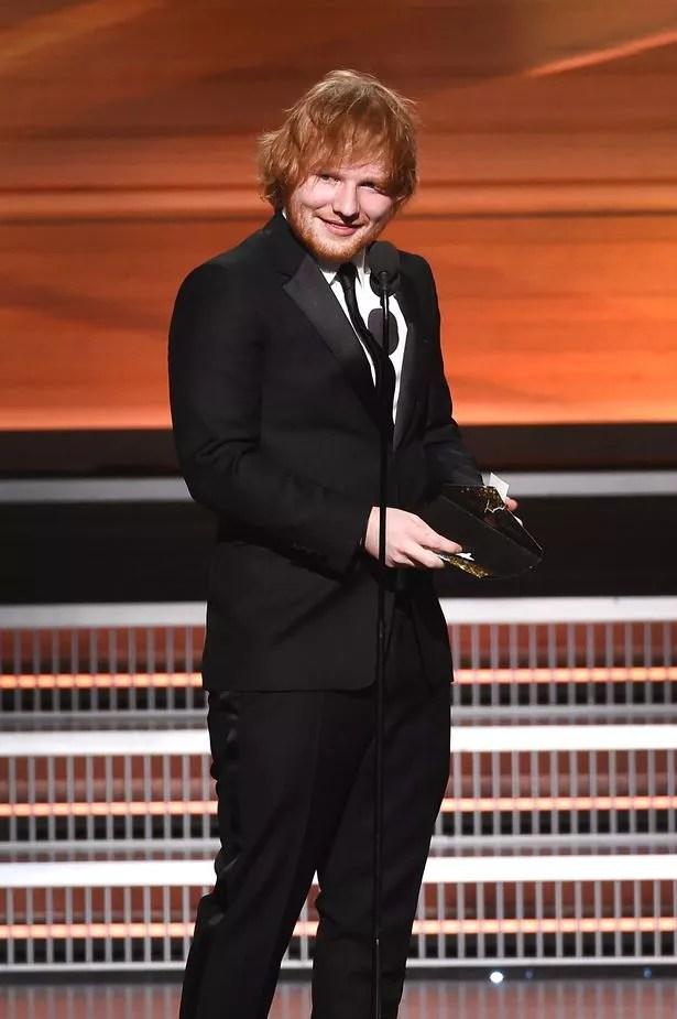 Ed Sheeran scooped two awards