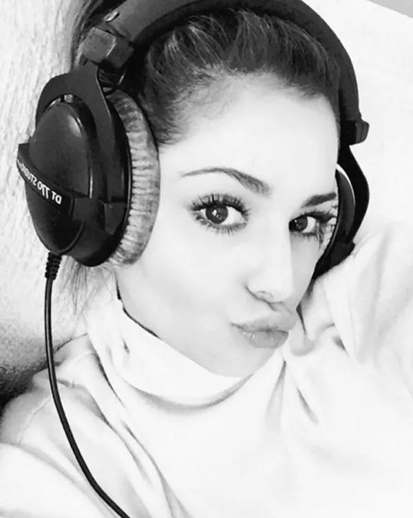 Cheryl back in the studio
