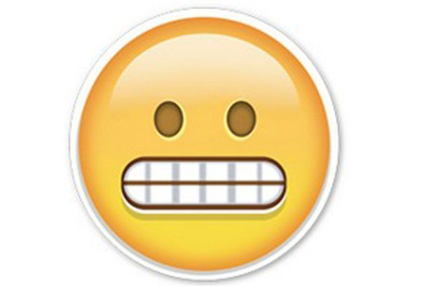 Image result for awkward smile emoji