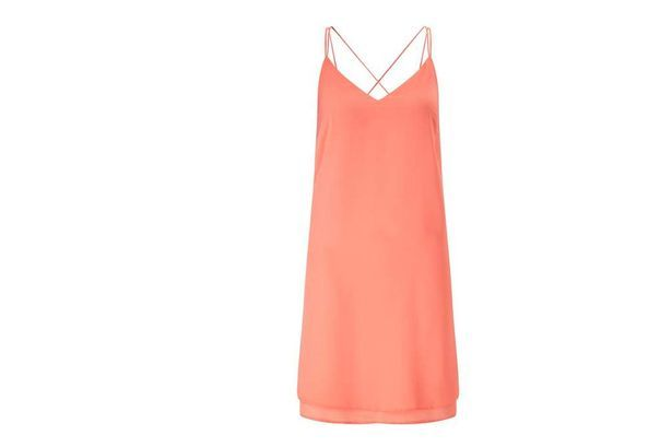 Miss Selfridge Coral Slip Dress