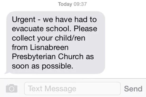 Bomb alert text message