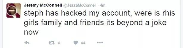 Jeremy McConnell tweet
