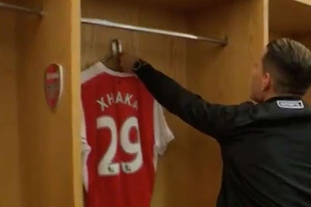Granit Xhaka arrives at The Emirates