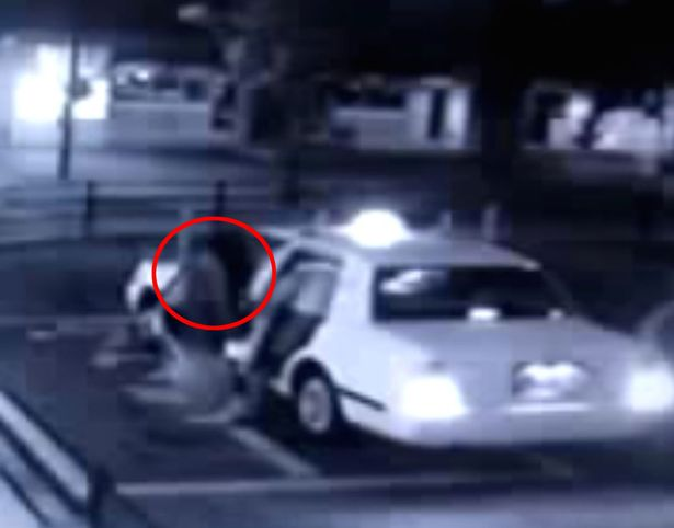 Camera captures ghost woman getting into taxi