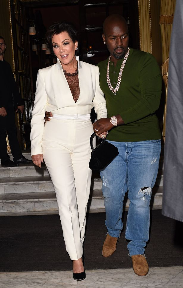 Kris Jenner looks worst for wear as she is helped to her waiting car by Corey Gamble after a 4 hour bender at the Costes Restuarnt in Paris