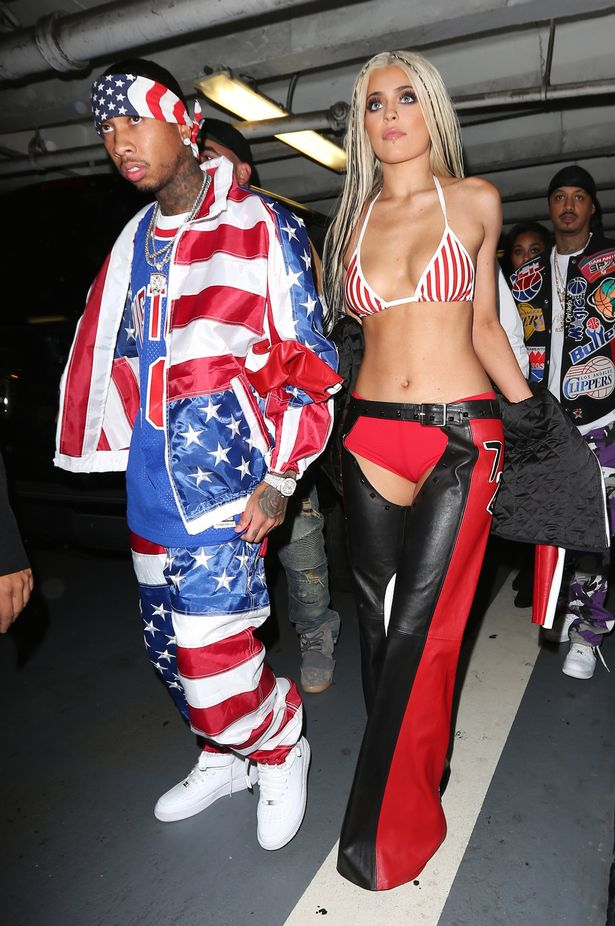 Kylie Jenner and Tyga seen dressed up in costumes to party at Bootsy Bellow in West Hollywood, Los Angeles, CA, USA.