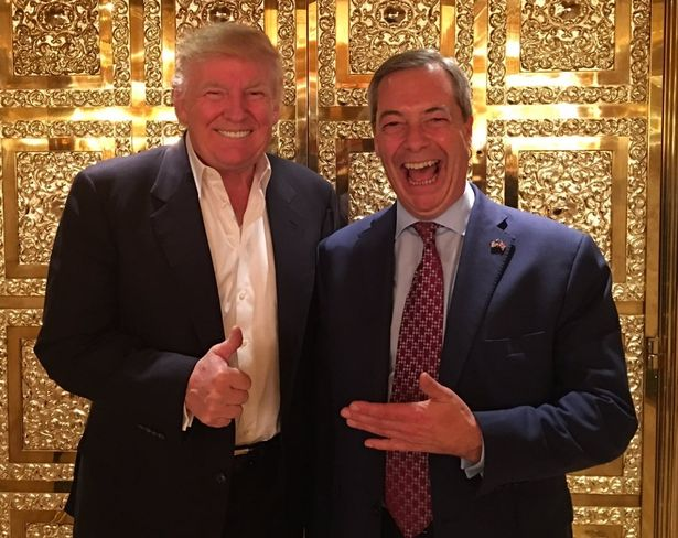 Image result for trump and farage
