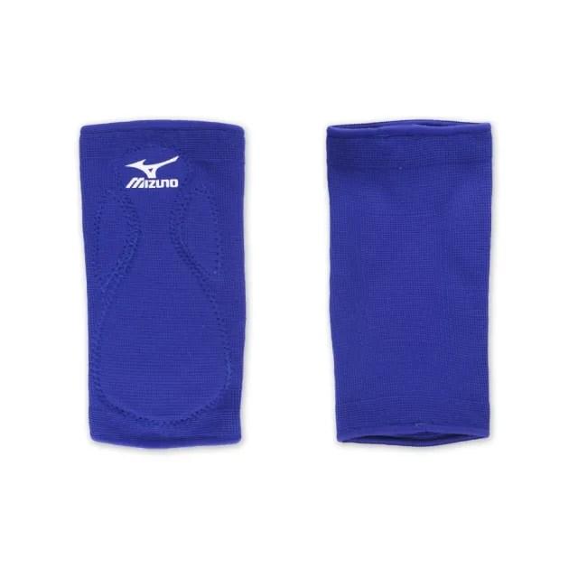 【MIZUNO】排球防撞運動護膝-巧固球 手球 一只入 美津濃 藍白(1DTLG60100-27)