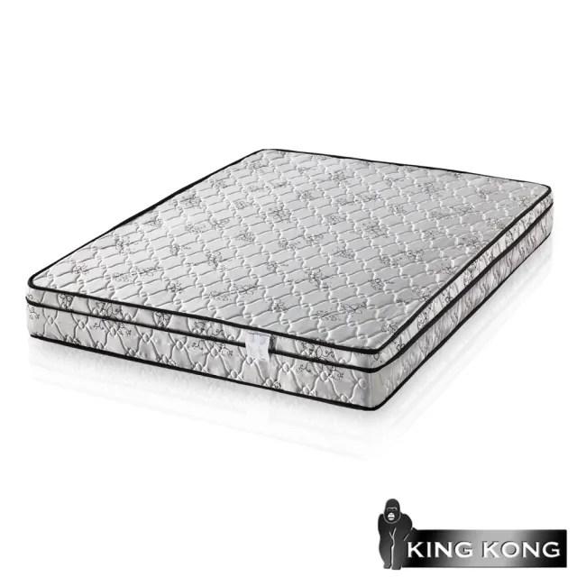 【金鋼床墊】三線高級緹花布加強護背型3.0硬式彈簧床墊-雙人5尺