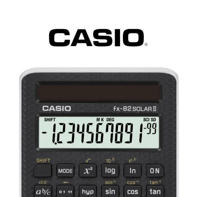 【CASIO 卡西歐】12位數國考型工程用計算機(FX-82SOLARII)