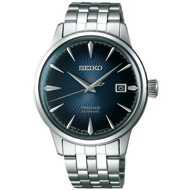 【SEIKO 精工】Presage 調酒師紳士風範機械錶-藍/40.5mm(SRPB41J1/4R35-01T0A)
