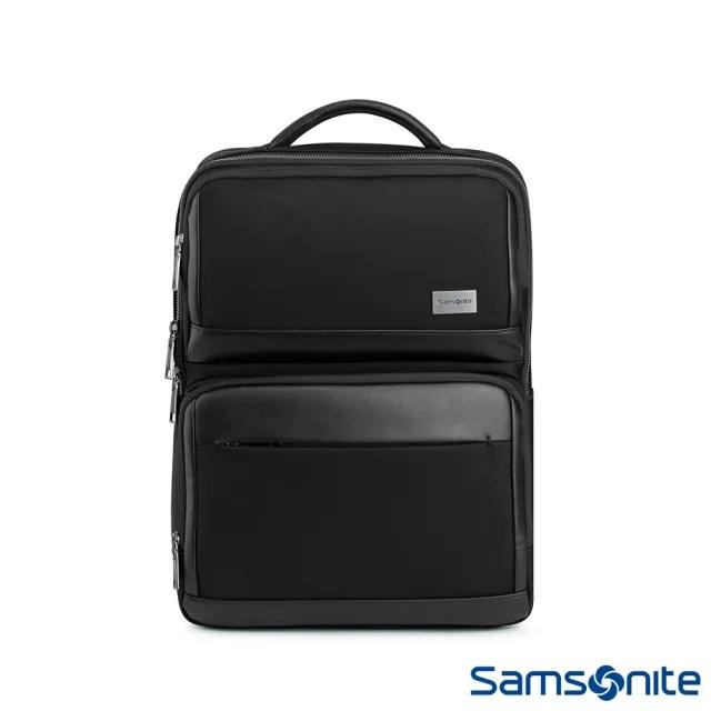 【Samsonite 新秀麗】WALDER輕商務大容量筆電後背包 15.6吋 黑(TW0)
