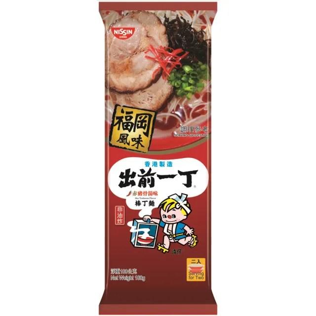 【NISSIN 日清】出前一丁棒丁麵赤豬骨湯味拉麵 微辣180g(日式拉麵)