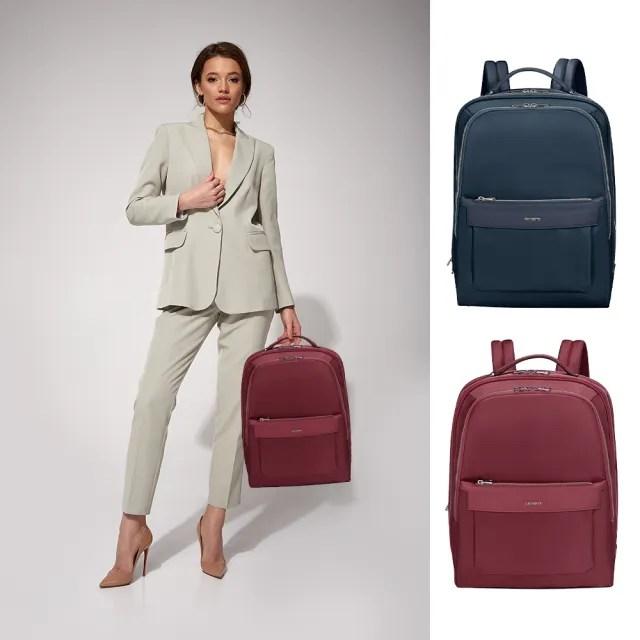 【Samsonite 新秀麗】Zalia2.0女性商務多夾層筆電後背包14 多色可選(KA8)
