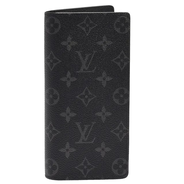 【Louis Vuitton 路易威登】M61697 經典BRAZZA Eclipse帆布折疊長夾(灰黑)
