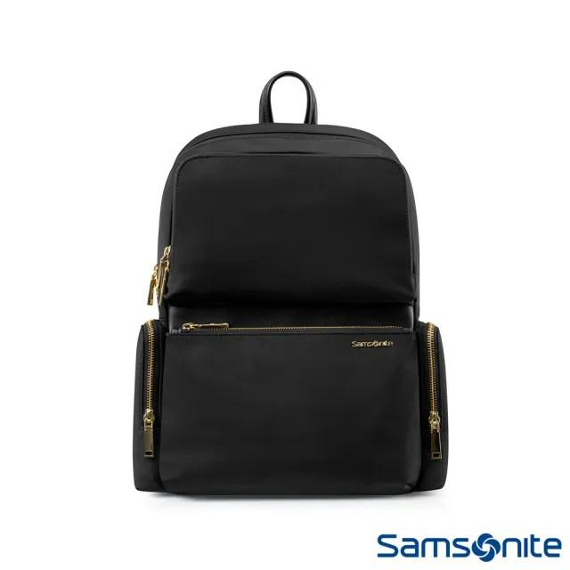 【Samsonite 新秀麗】ARA 女性都市簡約大容量筆電後背包(TW2)
