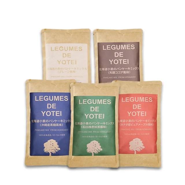 【北海道LEGUMES DE YOTEI】無添加小麥鬆餅粉180g口味任選(原味/沖繩黑糖/抹茶/法式可可/楓糖)