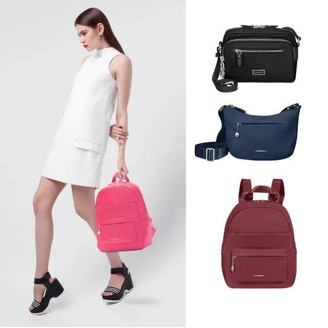【Samsonite 新秀麗】Move3.0經典時尚女性後背包S 多色可選(CV3)