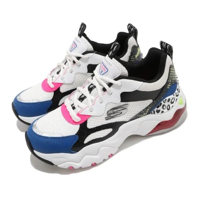 【SKECHERS】休閒鞋 D Lites 3.0 Air 老爹鞋 女鞋 厚底 增高 修飾腿型 穿搭 緩震 耐磨 白 黑(149260WBMT)