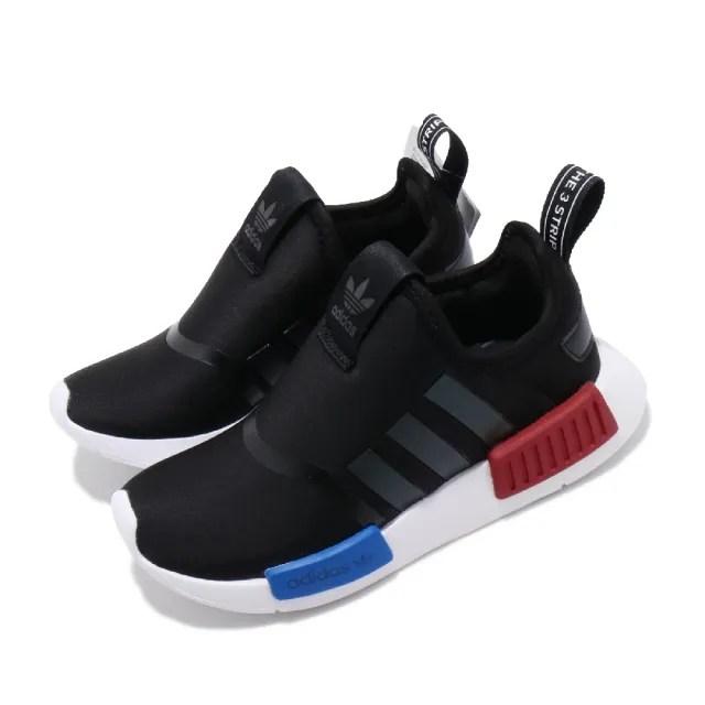 【adidas 愛迪達 】童鞋 休閒鞋 NMD 360 流行款 運動  愛迪達 三葉草 OG配色 親子鞋 大童 黑藍紅(EE6352)