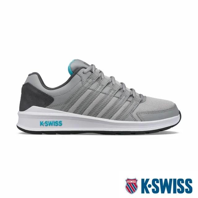 【K-SWISS】時尚運動鞋 Vista Trainer T-男-灰/藍(07119-027)