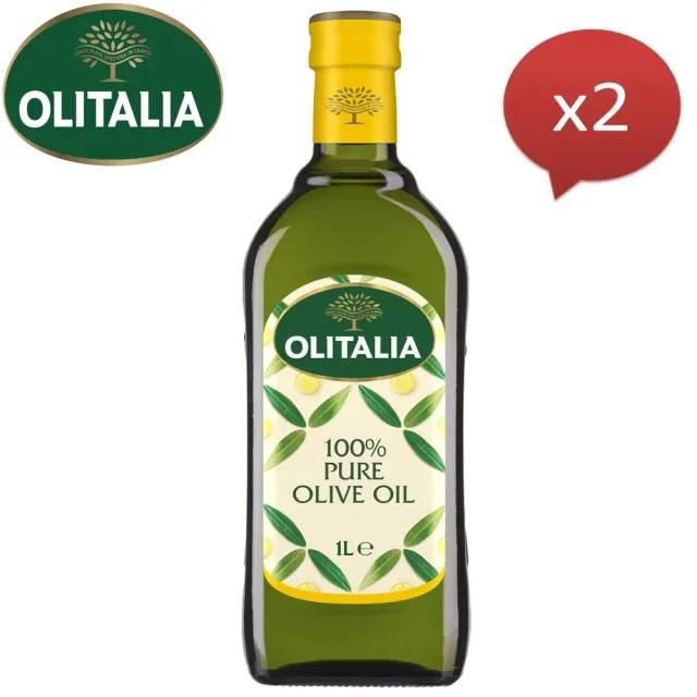 【Olitalia奧利塔】純橄欖油(1000mlx2瓶)