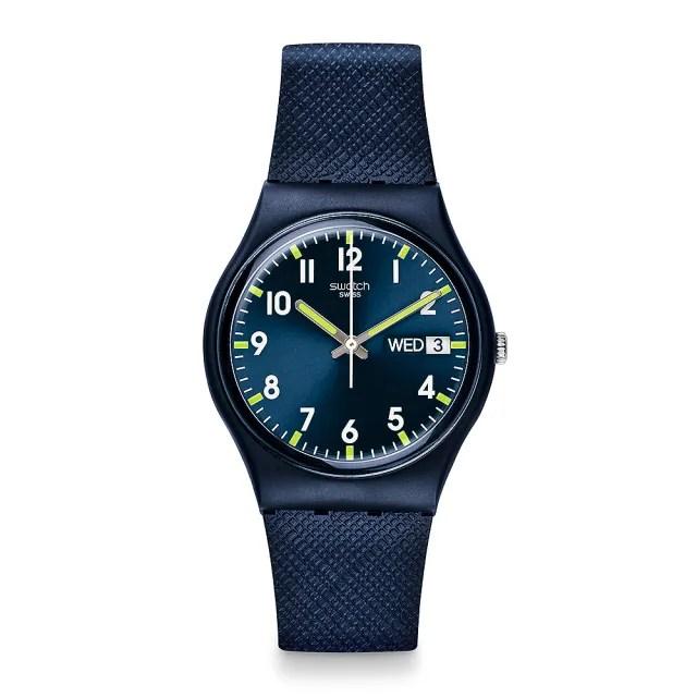 【SWATCH】原創系列手錶 SIR BLUE 奢華藍絨(34mm)
