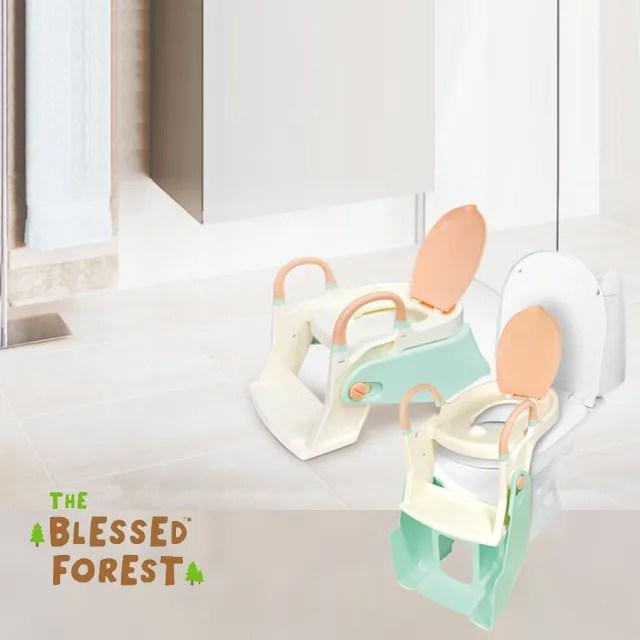 【祝福森林】成長型二段階梯式輔助座便梯(二段式 階梯式 成長便器 兒童輔助便器 兒童馬桶 原價$1955)