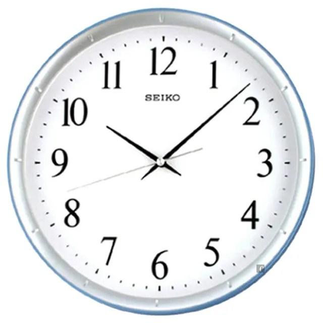 【SEIKO 精工】指針式時尚掛鐘-銀框(QXA378L)