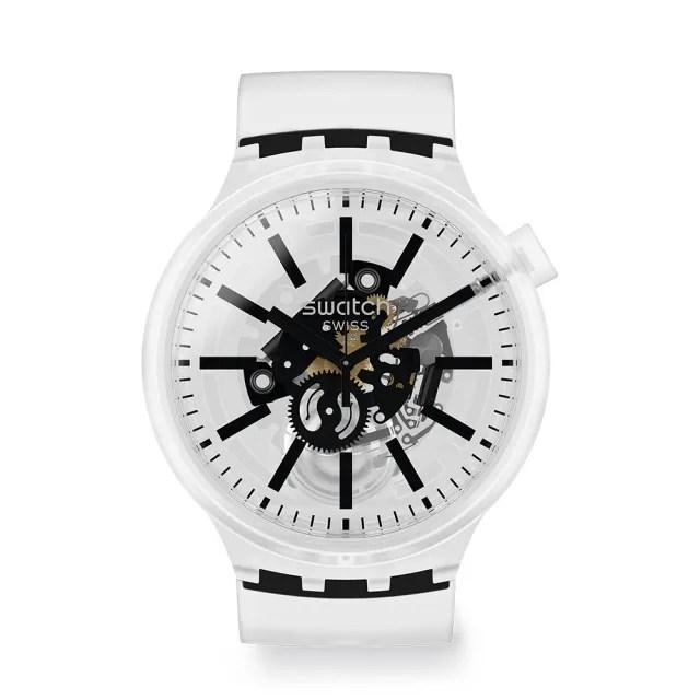 【SWATCH】BIG BOLD JELLY系列手錶  BLACKINJELLY(47mm)