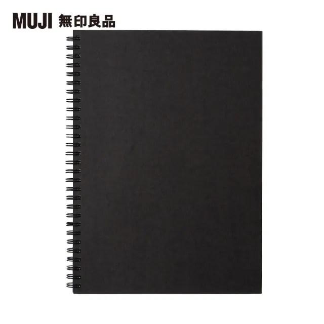 【MUJI 無印良品】雙環筆記本/空白/80張.B5.深灰