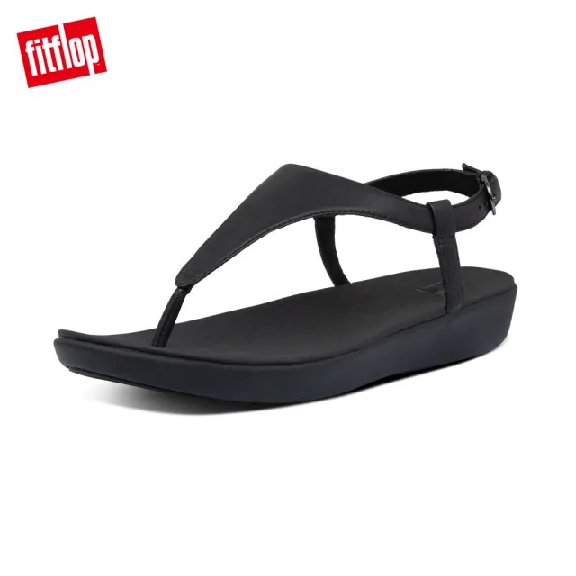 【FitFlop】LAINEY TOE-THONG BACK-STRAP SANDALS-T字可調式後帶涼鞋-女(靚黑色)