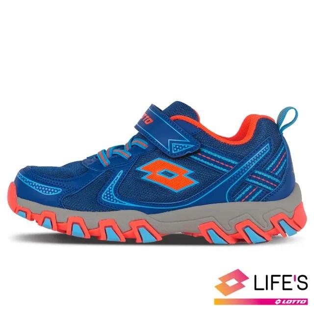【LOTTO】運動鞋 兒童鞋  探險家 防潑水越野跑鞋(亮藍-LT0AKR2706)