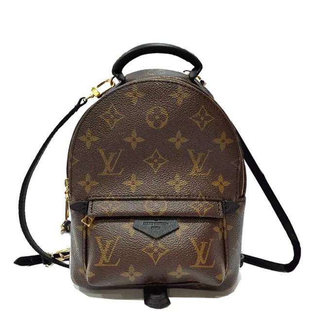 【Louis Vuitton 路易威登】M44873 PALM SPRINGS MINI Monogram帆布後背/斜背包(經典花紋)