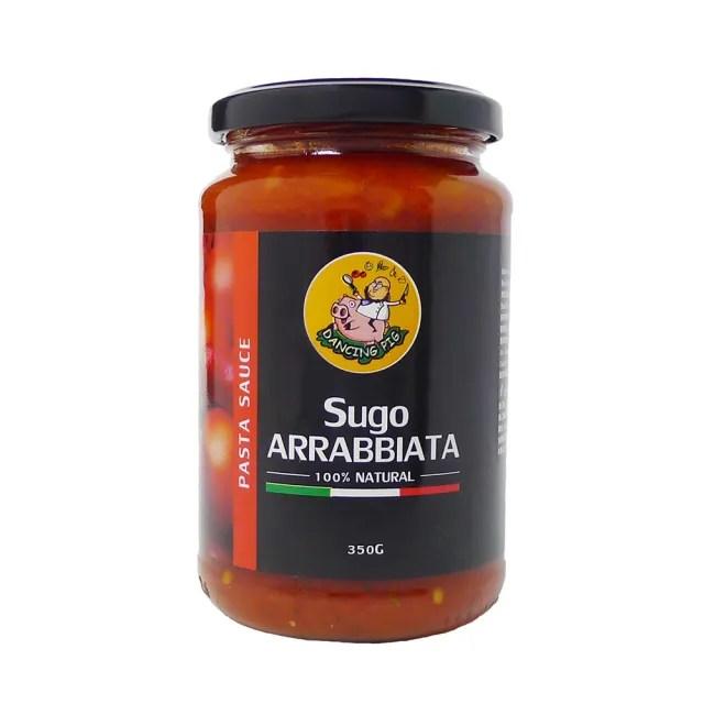【豬跳舞】辣味番茄麵醬 義大利麵醬  350g(義式紅醬/義式番茄醬)