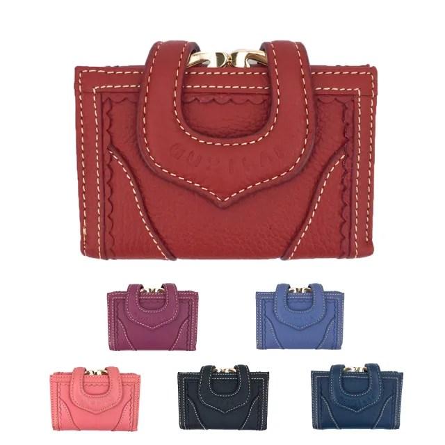 【玩皮工坊】真皮牛皮蕾絲女士多卡位三折皮夾錢包短夾中夾女夾LH354(6色可選)
