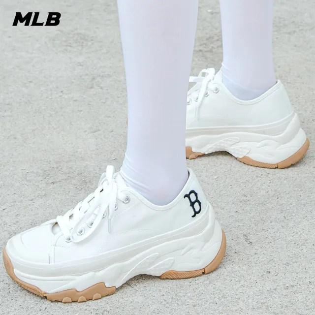 【MLB】低筒帆布老爹鞋 Chunky High 波士頓紅襪隊(32SHU2111-43W)