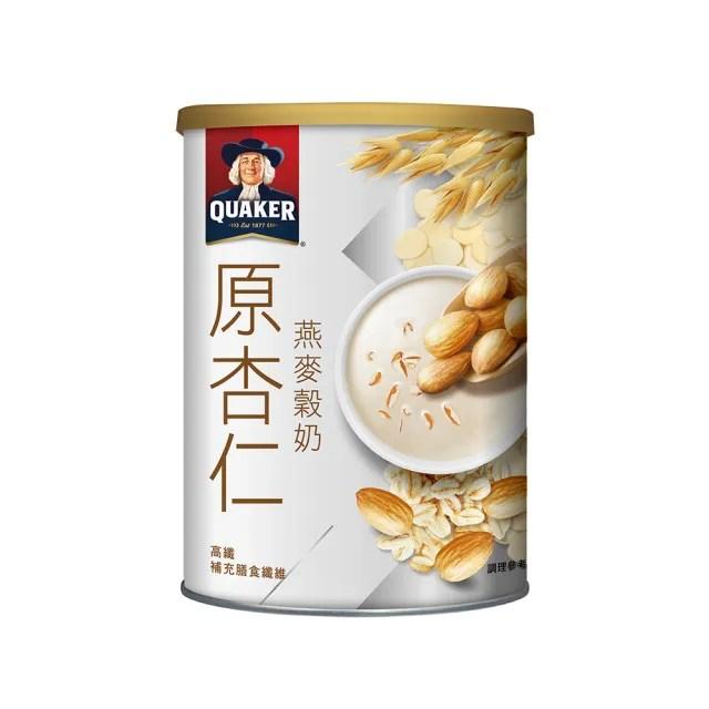 【QUAKER 桂格】原杏仁燕麥穀奶 390g*3罐(植物奶 奶素可食)