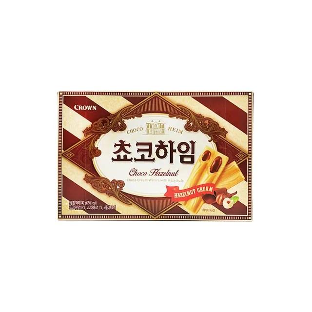 【CROWN】巧克力夾心威化酥142g(榛果巧克力風味)