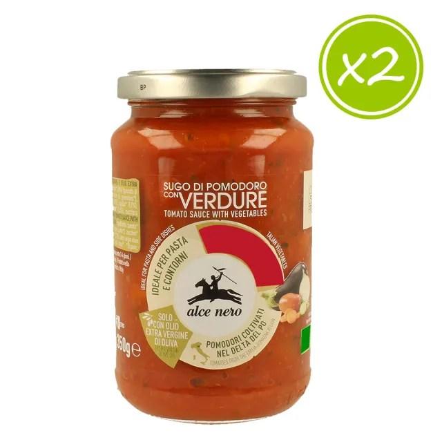 【alce nero尼諾】番茄蔬菜義大利麵醬350g(二入組)