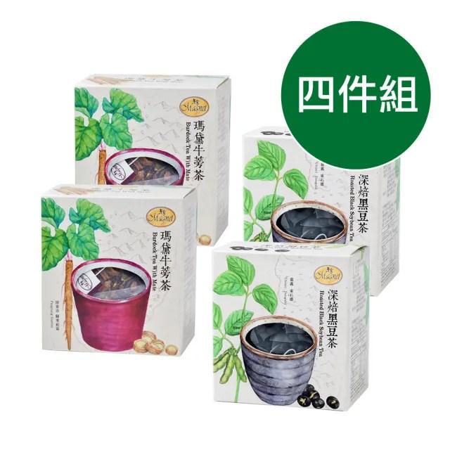 【曼寧】草本除濕茶 5-8g*15入*4盒(深焙黑豆茶/瑪黛牛蒡茶)
