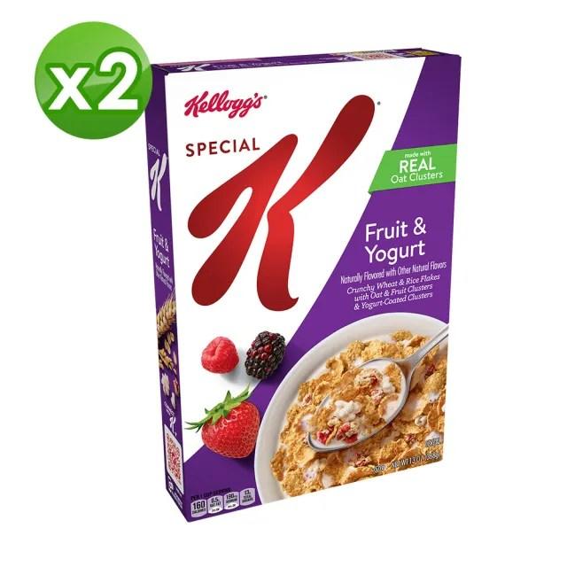 【家樂氏Kelloggs】Special K水果優格香脆麥米片368gX2(早餐麥片/穀片)