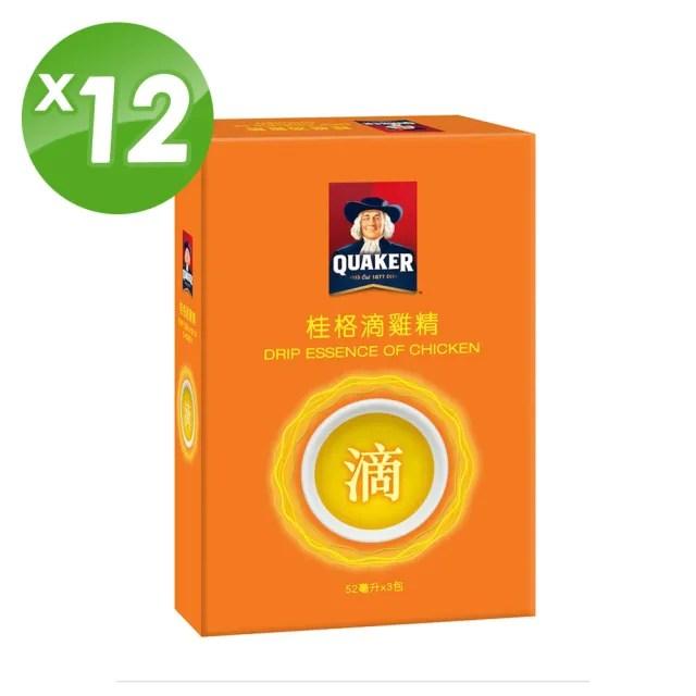 【QUAKER 桂格】滴雞精52ml×3包×12盒