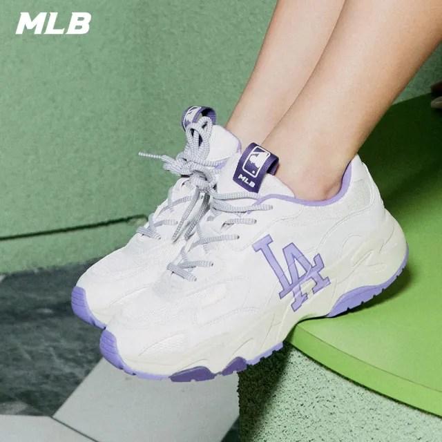 【MLB】老爹鞋 拼接撞色休閒鞋 側邊Logo 洛杉磯道奇隊(3ASHC311N-07LDS)